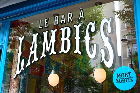 Vitrine Bar à Lambics - Studio Syllabe et Bon Esprit